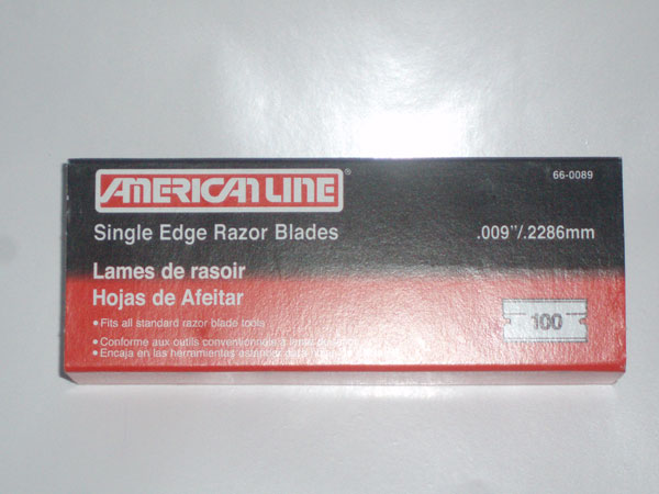 SINGLE EDGE RAZOR BLADES AMERICAN  LINE 100 PC 1 BOX